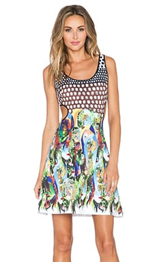 Clover Canyon Flourishing Oasis Cut Out Dress in Multi