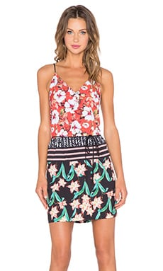 Clover Canyon Floral Sunrise Mini Dress in Multi