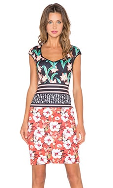 Clover Canyon Floral Sunrise Dress in Multi