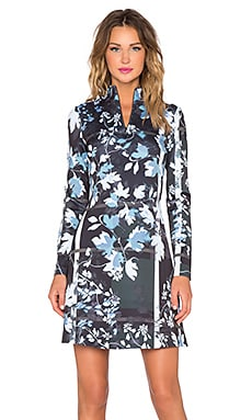 Clover Canyon Fall Leaves Dress in Blue
