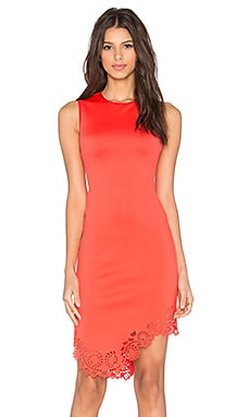 Clover Canyon Laser Mini Dress in Red