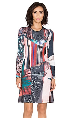 Clover Canyon Autumn Stripe Dress in Multi