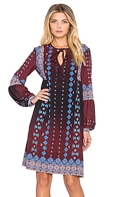 Clover Canyon Embroidered Ombre Dress in Wine