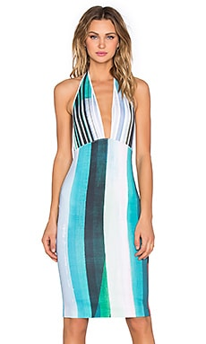 Striped Eclipse Dress in Blue