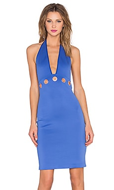 Clover Canyon Halter Midi Dress in Periwinkle