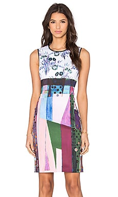 Nouveau Facade Dress in Multi