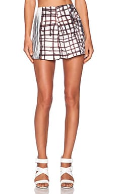 Clover Canyon Blossoming Plaid Shorts in Multi