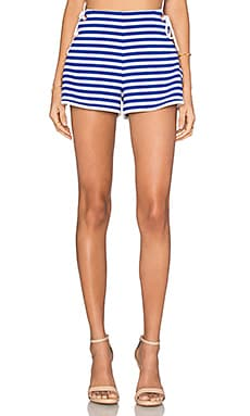 Tie Side Short en Bleu & Blanc