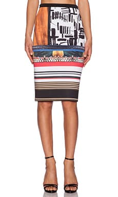 Clover Canyon Imperial Markings Skirt in Multi