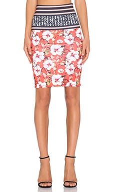 Clover Canyon Floral Sunrise Skirt in Multi
