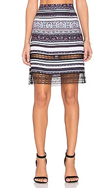 Clover Canyon Striped Tapestry Skirt in Multi