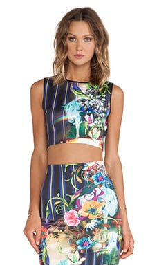 Clover Canyon Magic Underworld Neoprene Crop Top in Multi