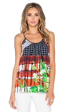 Clover Canyon Amber Plaid Tank Top in Multi