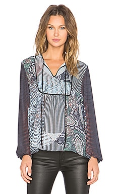 Clover Canyon Kaleidoscope Paisley Top in Multi