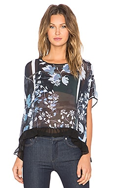 Clover Canyon Fall Leaves Top in Blue