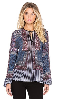 Clover Canyon Patchwork Paisley Top in Multi