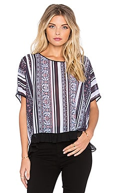 Clover Canyon Striped Tapestry Top in Multi