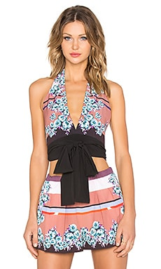 Clover Canyon Seaside Horizon Crop Top in Multi