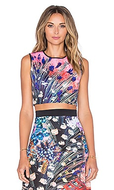 Clover Canyon Etched Blooms Crop Top in Multi