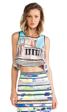 Clover Canyon Acropolis Garden Neoprene Crop Top in Multi
