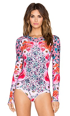 Clover Canyon Poppy Blossoms Rashguard in Multi