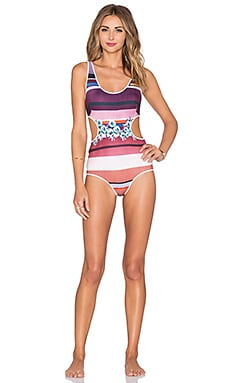 Clover Canyon Seaside Horizon Swimsuit in Multi