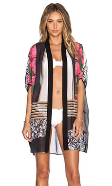 Clover Canyon Scribble Scarf Caftan in Multi