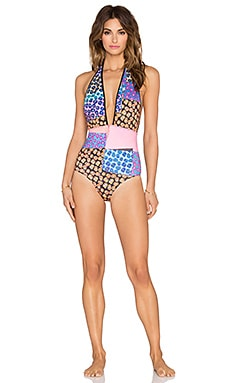 Clover Canyon Mod Poppies Swimsuit in Multi