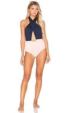 CLUBE BOSSA Terus One Piece in Blue Navy & Blush