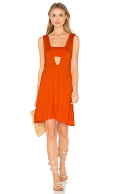 Shella Dress in Tangerine