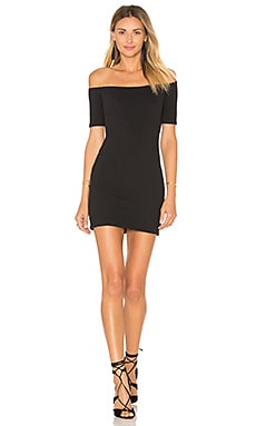 Bev Dress in Black Bubble Knit