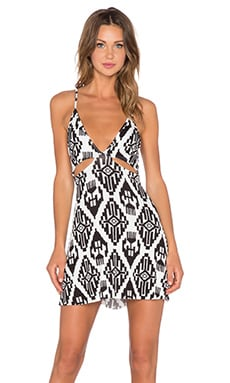 Clayton Betty Dress in Black Tribal