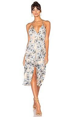 Salma Dress in Bare Floral Sketch