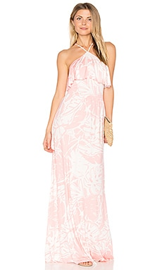 Arianna Maxi Dress in Pink Palm