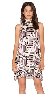 Clayton Amanda Mini Dress in Graphic Folk