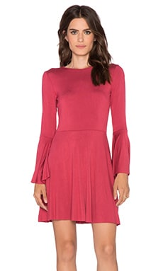 Clayton Sasha Mini Dress in Wine