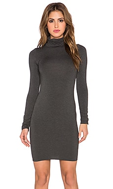 Clayton Sally Turtleneck Dress in in Charcoal