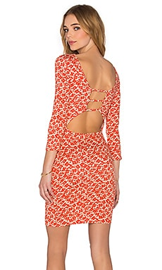 Clayton Bobbi Dress in Red Flower