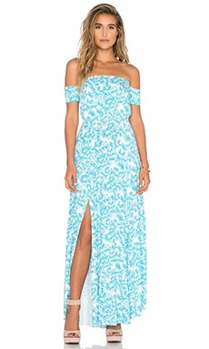 Clayton Margaret Dress in Turquoise Sunflower
