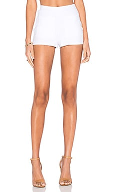 Yuna Wide Rib Short in White