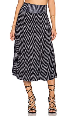 Clayton Cameron Midi Skirt in Navy Rain