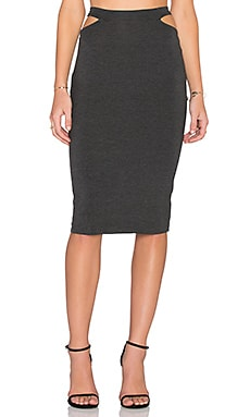 Clayton Rhiannon Skirt in Charcoal