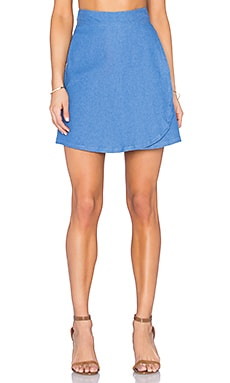Clayton Jackie Skirt in Denim