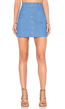 Clayton Krystal Skirt in Denim