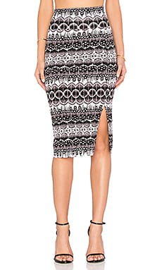 Clayton Pencil Skirt in Black Dream