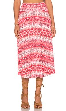 Clayton Cameron Skirt in Coral Dream