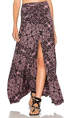 Clayton Jaya Skirt in Mauve Fleur