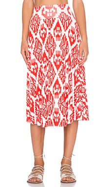 Clayton Cameron Skirt in Vermilion Tribal