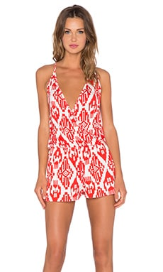 Clayton Isabel Romper in Vermilion Tribal