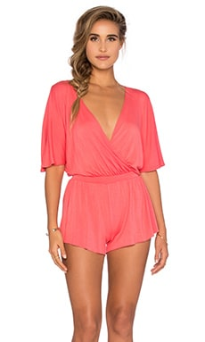 Karmina Playsuit in Coral